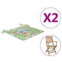 vidaXL Възглавници за градински столове 2 бр на листа 40x40x4 см