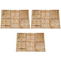 vidaXL 18 бр декинг плочки, 50x50 см, дърво, кафяви