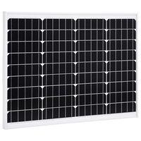 vidaXL Соларен панел, 50 W, монокристален алуминий и защитно стъкло