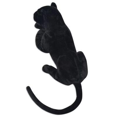 vidaXL Плюшена детска играчка-пантера, черна, XXL
