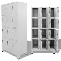 vidaXL Заключващ се шкаф с 12 отделения, 90x45x180 cм