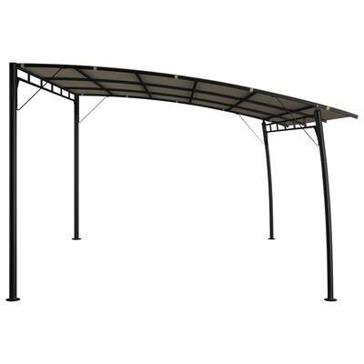 vidaXL Градинска тента сенник, 4x3x2,55 м, таупе