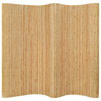 vidaXL Параван за стая, бамбук, 250x165 см, натурален цвят