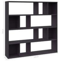 vidaXL Разделител за стая/библиотека, сив, 110x24x110 см, ПДЧ