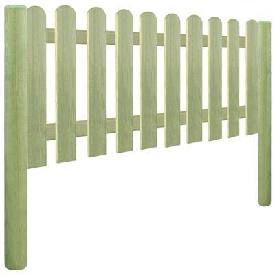vidaXL Решетъчна ограда, импрегниран бор, 5,1 м, 130 см, 6/9 см