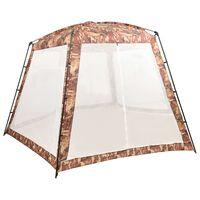 vidaXL Палатка за басейн, текстил, 500x433x250 см, камуфлаж