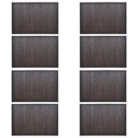 vidaXL Бамбукови постелки за баня, 8 бр, 40x50 см, тъмнокафяви