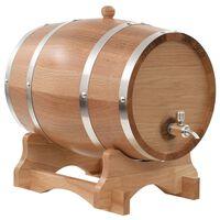 vidaXL Бъчва за вино с канелка, дъб масив, 12 л