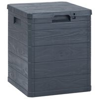 vidaXL Градинска кутия за съхранение, 90 л, антрацит