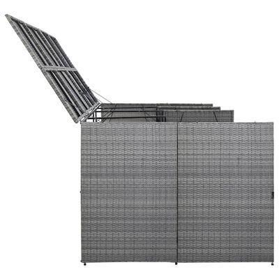 vidaXL Четворен навес за кофа за смет антрацит 305x78x120 см полиратан