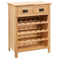vidaXL Шкаф за вино, 72x32x90 см, дъбов масив