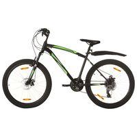 vidaXL Планински велосипед, 21 скорости, 26 цола, 46 см, черен