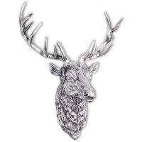 vidaXL Декоративна глава на елен, монтаж на стена, алуминий, сребрист