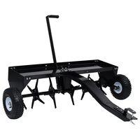 vidaXL Аератор за тревни площи за моторна косачка, 102 см