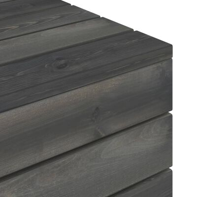 vidaXL Градински палетен лаундж комплект 5 части възглавници бор масив