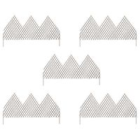 vidaXL Градински огради хармоника, 5 бр, 170x105 см, върба