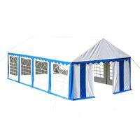 vidaXL Парти шатра, 4х8 м, синя