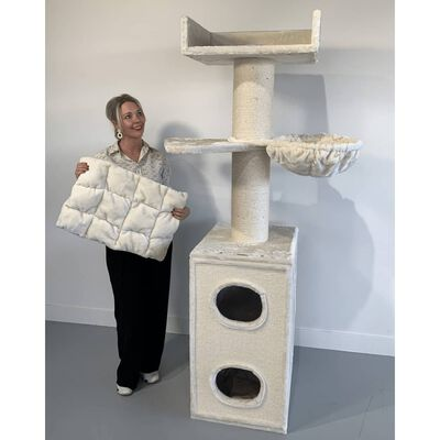 RHRQuality котешко д Maine Coon Tower Box Comfort Blackline Light Grey