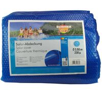 Summer Fun Лятно соларно покривало за басейн кръгло 350 см PE синьо