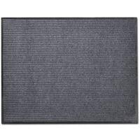 Изтривалка за входна врата от PVC, сива, 90 х 60 см