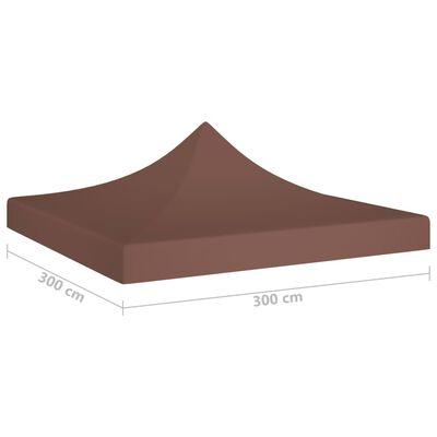 vidaXL Покривало за парти шатра, 3х3 м, кафяво, 270 г/м²