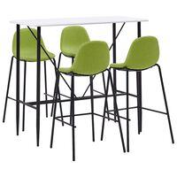 vidaXL Бар комплект от 5 части, зелен текстил