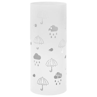 """vidaXL Поставка за чадъри """"Чадъри"""", стомана, бяла"""