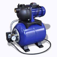Градинска водна помпа, електрическа, синя, 1200W