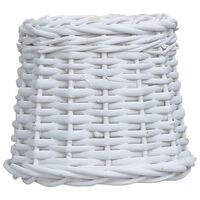 vidaXL Абажур, плетена ракита, 25x17 см, бял