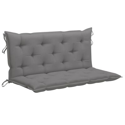 vidaXL Възглавница за градинска люлка, сива, 120 см, текстил