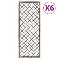 vidaXL Градински перголи, 6 бр, 45x170 см, върба