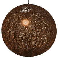 vidaXL Пендел, кафяв, сферичен, 55 см, Е27