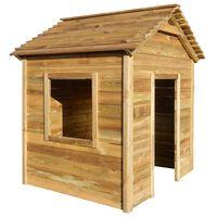 vidaXL Градинска къща за игра, 123x120x146 см, борова дървесина