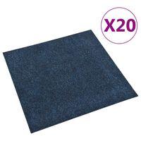 vidaXL Плочки за под, килимни, 20 бр, 5 м², тъмносини