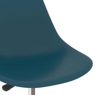 vidaXL Въртящи се трапезни столове, 6 бр, тюркоаз, PP