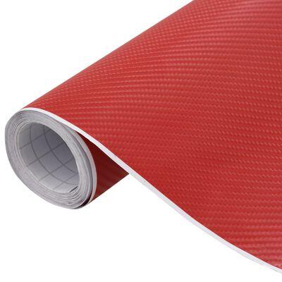 vidaXL Фолио за кола матово 4D червено 200x152 см