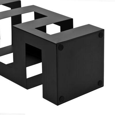 """vidaXL Поставка за чадъри """"Тетрис"""", стомана, черна"""