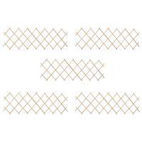 vidaXL Огради хармоника, 5 бр, чамова дървесина, 180x60 см