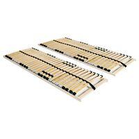 vidaXL Подматрачни рамки с 28 ламела, 2 бр, 7 зони, 70x200 см