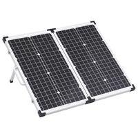 vidaXL Сгъваем соларен панел във вид на куфар, 60 W, 12 V