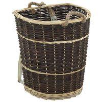 vidaXL Раница за дърва за огрев с презрамки, 44,5x37x50 см, върба