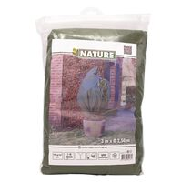 Nature Зимно поларено покривало, 70 гр/м², зелено, 2,5x3 м