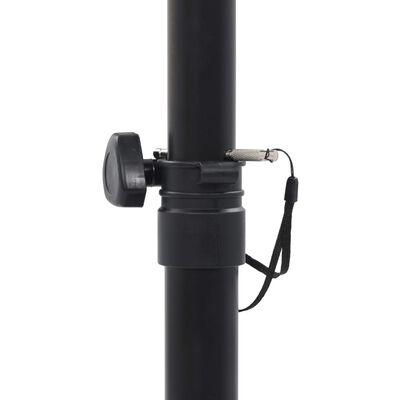 vidaXL Студийни стойки за мониторни тонколони, 2 бр, черни, стомана