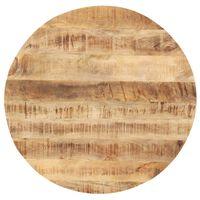 vidaXL Плот за маса, мангово дърво масив, кръгъл, 25-27 мм, 40 cм