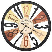 vidaXL Стенен часовник, метал, 60 см, многоцветен