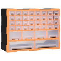 vidaXL Шкаф органайзер с 40 чекмеджета, 52x16x37,5 см