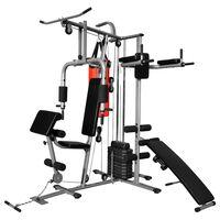 vidaXL Многофункционален домашен фитнес уред с 1 боксова круша 65 кг