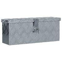 vidaXL Алуминиева кутия, 48,5x14x20 см, сребриста