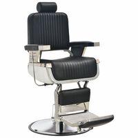 vidaXL Фризьорски стол, черен, 68x69x116 см, изкуствена кожа