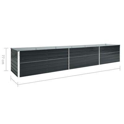 vidaXL Градинска висока леха поцинкована стомана 480x80x77 см антрацит